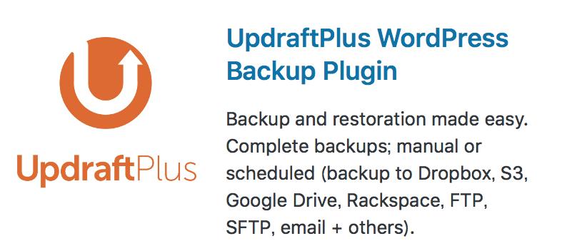 WordPressのバックアップはUpdraftPlusが便利